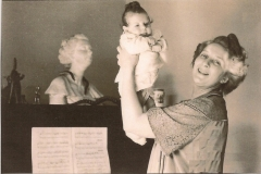 1954 Three weeks old with my mother )